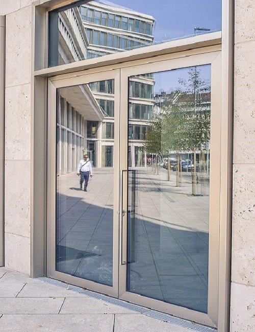 Framed Glass Doors Logan
